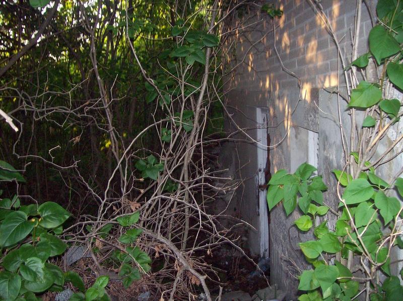 Basement door of the church